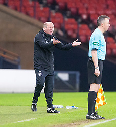 Queen's Park manager Gus McPherson. Queen's Park 2 v 1 Airdrie, Scottish Football League Division One game played 7/1/2017 at Hampden.