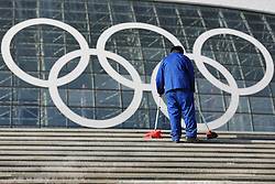 The XXII Winter Olympic Games 2014 in Sotchi, Olympics, Olympische Winterspiele Sotschi 2014<br /> Olympic Park, Olympischer Park,<br /> Ice Bolshoi Dome, olympic rings,
