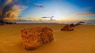 Maagan michael sandy beach at winter time sunset