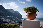 View from Piazza Umberto, Capri, Campania, Italy.