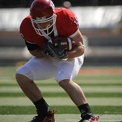 Apr 18, 2009; Piscataway, NJ, USA; Rutgers WR Andrew DePaola (16) catches a ball on the sideline during the second half of Rutgers' Scarlet and White spring football scrimmage.