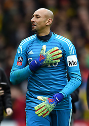 Watford goalkeeper Heurelho Gomes after the final whistle