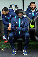 Swansea city assistant coach Claude Makelele looks on before kick off. Premier league match, Swansea city v Burnley at the Liberty Stadium in Swansea, South Wales on Saturday 4th March 2017.<br /> pic by  Carl Robertson, Andrew Orchard sports photography.