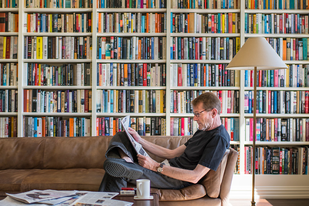 MANHATTAN, NY - SEPTEMBER 6, 2015: Lee Child at home on the Upper West Side in Manhattan. CREDIT: Emon Hassan