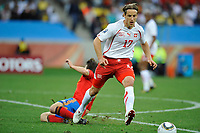 Fotball<br /> VM 2010<br /> 16.06.2010<br /> Spaania v Sveits<br /> Foto: Dppi/Digitalsport<br /> NORWAY ONLY<br /> <br /> FOOTBALL - FIFA WORLD CUP 2010 - GROUP STAGE - GROUP H - SPAIN v SWITZERLAND - 16/06/2010<br /> <br /> RETO ZIEGLER (SWI)
