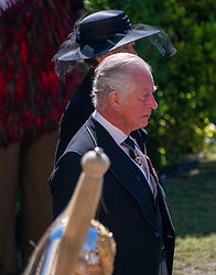 The Prince of Wales outside St George's Chapel, Windsor Castle, Berkshire, ahead of the funeral of the Duke of Edinburgh. Picture date: Saturday April 17, 2021.