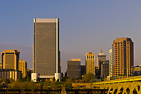 Skyline seen from across the James River, Richmond, Virginia USA