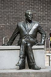 Harold Wilson sculpture, Huyton, Merseyside