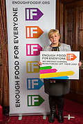 Mary Glindon MP supporting the Enough Food for Everyone?IF campaign. .MP's and Peers attended the parliamentary launch of the IF campaign in the State Rooms of Speakers House, Palace of Westminster. London, UK.
