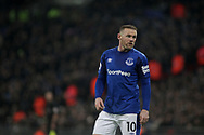 Wayne Rooney of Everton looks on. <br /> Premier league match, Tottenham Hotspur v Everton at Wembley Stadium in London on Saturday 13th January 2018.<br /> pic by Kieran Clarke, Andrew Orchard sports photography.