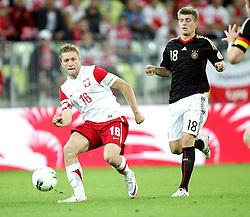 06.09.2011, PGE Arena, Danzig, POL, FSP, Polen vs Deutschland, im Bild JAKUB BLASZCZYKOWSKI POLSKA TONI KROOS NIEMCY// during the international frindly football game between Poland and Germany at PGE Arena Gdansk Poland on 2011-09-06. EXPA Pictures © 2011, PhotoCredit: EXPA/ Newspix/ Michal Novak +++++ ATTENTION - FOR AUSTRIA/(AUT), SLOVENIA/(SLO), SERBIA/(SRB), CROATIA/(CRO), SWISS/(SUI) and SWEDEN/(SWE) CLIENT ONLY +++++