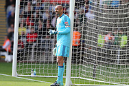 Watford goalkeeper Heurelho Gomes looks on. Premier league match, Swansea city v Watford at the Liberty Stadium in Swansea, South Wales on Saturday 23rd September 2017.<br /> pic by  Andrew Orchard, Andrew Orchard sports photography.