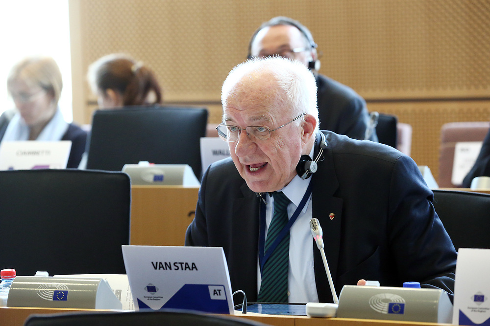 12 May 2017, 123rd Plenary Session of the European Committee of the Regions <br /> Belgium - Brussels - May 2017 <br /> <br /> Mr VAN STAA Herwig, President of the Tyrol Regional Parliament, Austria<br /> <br /> © European Union / Patrick Mascart