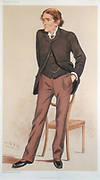 John Scott Burdon-Sanderson (1828-1905) , British physiologist.   Regius professor of medicine at Oxford and President of the British Association for the Advancement of Science from 1893. Cartoon from 'Vanity Fair'. (London, 17 May 1894).
