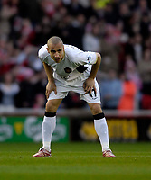 Photo: Jed Wee/Sportsbeat Images.<br /> Middlesbrough v Manchester United. The FA Cup. 10/03/2007.<br /> <br /> Henrik Larsson plays his last game for Manchester United.
