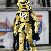 ORLANDO, FL - OCTOBER 09:  UCF mascot Nitro is seen at Bright House Networks Stadium on October 9, 2014 in Orlando, Florida. (Photo by Alex Menendez/Getty Images) *** Local Caption *** Nitro