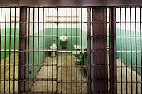 United States, California, San Francisco. Alcatraz. Inside the federal prison, prison cells.