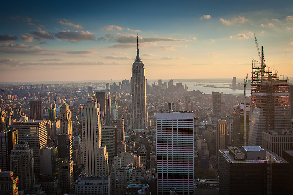 New York City Skyline, looking downtown from Rockefeller Center.