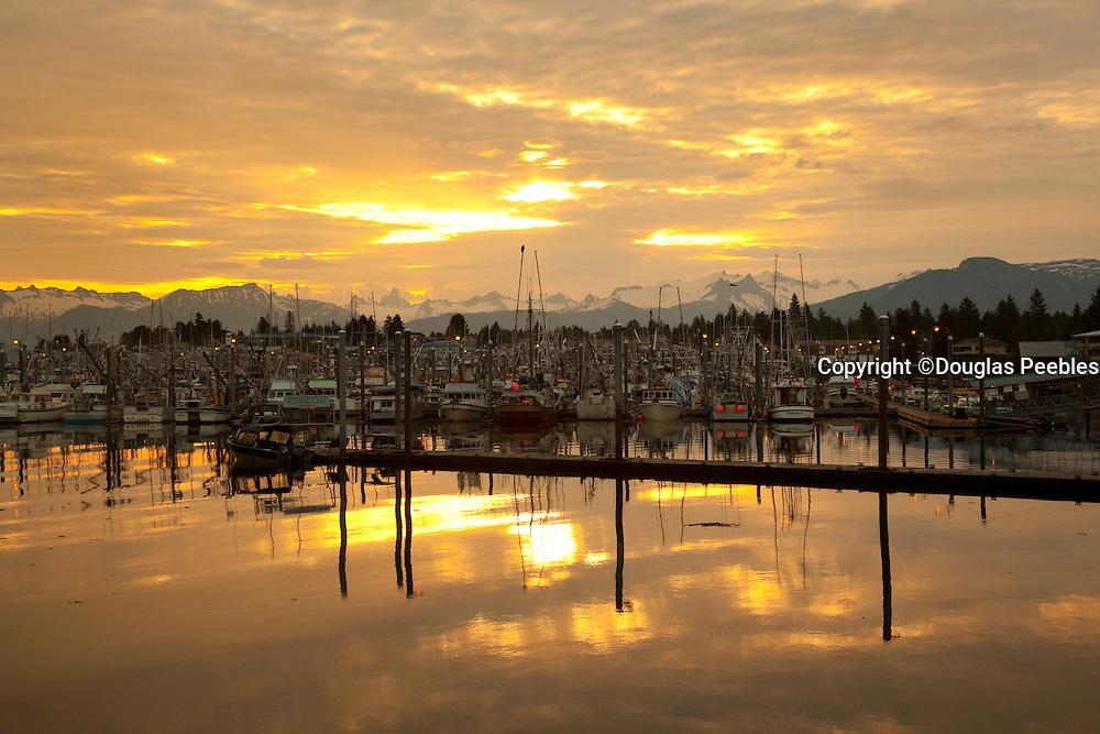 Sunrise, Harbor, Petersburg, Alaska