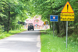 June 16, 2017 - Bialowieza - Border crossing between Poland and (Schengen Area) and Republic of Belarus in Bialowieza, Poland on 16 June 2017  is seen..people can cross the border under the visa free regime only on bike and on foot and can stay in Belarus up to 3 days. (Credit Image: © Michal Fludra/NurPhoto via ZUMA Press)