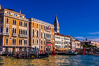 Along the Grand Canal, Venice, Italy.