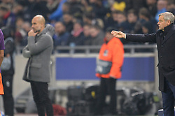 November 27, 2018 - Decines Charpieu - Parc Ol, France - Pep Guardiola (entraineur manchester city) et Bruno Genesio  (Credit Image: © Panoramic via ZUMA Press)
