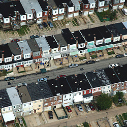 Aerial photograph of South Philly Row Homes, DRONE VIEW OF HOUSES