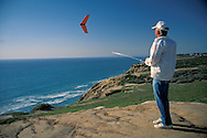 Flying Radio controlled gliders at the+Torrey Pines Gliderport, San Diego County, CALIFORNIA