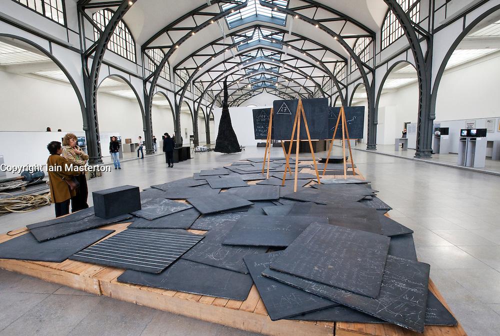 Modern art installation at Hamburger Bahnhof modern art museum in Berlin Germany