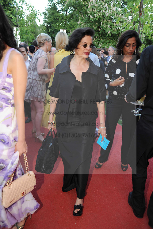 BIANCA JAGGER at the annual Serpentine Gallery Summer party this year sponsored by Jaguar held at the Serpentine Gallery, Kensington Gardens, London on 8th July 2010.  2010 marks the 40th anniversary of the Serpentine Gallery and the 10th Pavilion.