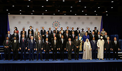 September 20, 2016 - New York, New York, United States of America - United States President Barack Obama (C-R) and United Nations Secretary- General Ban Ki-moon (C-L) pose with world leaders during the United Nations 71st session of the General Debate at the United Nations General Assembly at United Nations headquarters in New York, New York, USA, 27 September 2016..Credit: Peter Foley / Pool via CNP (Credit Image: © Peter Foley/CNP via ZUMA Wire)