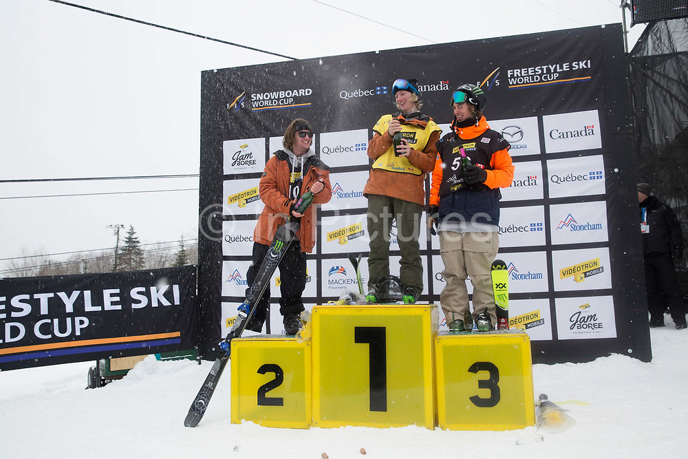 James Woods takes 2nd place at the ski FIS World Cup on 12th February 2017 in Stoneham Mountain, Canada. Swiss Andri Ragettli takes 1st place with 3rd place going to Canadian, Alex Beaulieu-Marchand. The Canadian Jamboree is part of the ski and snowboard FIS World Cup circuit held in Quebec City and Stoneham Mountain.