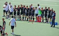 AMSTELVEEN -  Het team van Duitsland tijdens de shoot outs, EK hockey, finale Nederland-Duitsland 2-2. mannen.  Nederland wint de shoot outs en is Europees Kampioen.  COPYRIGHT KOEN SUYK