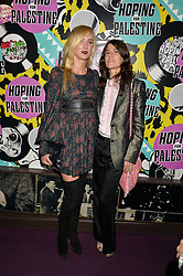 Left to right, KIMBERLEY STEWARTand BELLA FREUD at Hoping's Greatest Hits - the 10th Anniversary of The Hoping Foundation's charity benefit held at Ronnie Scott's, 47 Frith Street, Soho, London on 16th June 2016.