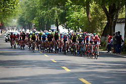 The bunch remained together for the majority of the day at Tour of Chongming Island 2019 - Stage 1, a 102.7 km road race on Chongming Island, China on May 9, 2019. Photo by Sean Robinson/velofocus.com