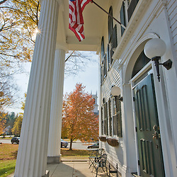 The historic Windham County Courthouse in Newfane, Vermont.  Fall.