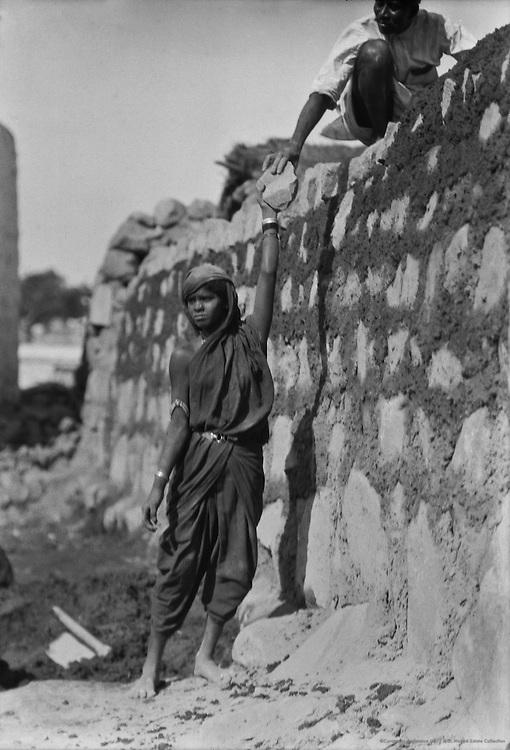 Building a Wall, Guntakal, India, 1929