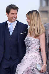 Tom Cruise and Alix Benezech attending the Global Premiere of Mission: Impossible - Fallout at Palais de Chaillot in Paris, France on July 12, 2018. Photo by Aurore Marechal/ABACAPRESS.COM