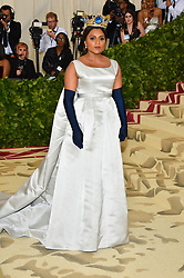 Mindy Kaling attending the Costume Institute Benefit at The Metropolitan Museum of Art celebrating the opening of Heavenly Bodies: Fashion and the Catholic Imagination. The Metropolitan Museum of Art, New York City, New York, May 7, 2018. Photo by Lionel Hahn/ABACAPRESS.COM