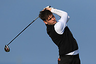 Robert Brazill on the 1st tee during Round 4 of The West of Ireland Open Championship in Co. Sligo Golf Club, Rosses Point, Sligo on Sunday 7th April 2019.<br /> Picture:  Thos Caffrey / www.golffile.ie