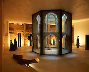 Although the whole compound could be considered a work of art the lower floors are preserved for displaying his work which spans nearly 50 years.  Corbero works in many materials including local basalt, marble and stone.
