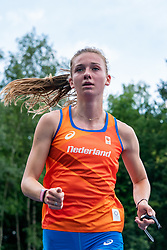 Femke Bol in action during the Press presentation of the olympic team Athletics on July 8, 2021 in Papendal Arnhem