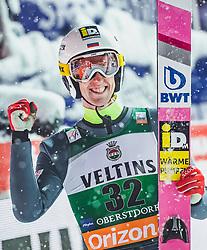 02.02.2019, Heini Klopfer Skiflugschanze, Oberstdorf, GER, FIS Weltcup Skiflug, Oberstdorf, im Bild 2. Platz Evgeniy Klimov (RUS) // 2nd placed Evgeniy Klimov of Russian Federation during the FIS Ski Jumping World Cup at the Heini Klopfer Skiflugschanze in Oberstdorf, Germany on 2019/02/02. EXPA Pictures © 2019, PhotoCredit: EXPA/ JFK