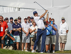 CHICAGO, Sep. 15, 2017  Jordan Spieth from the 10th rough during the BMW Championships  at Conway Farms Golf Course in Lake Forest, Illinois, United States of America on Sep, 15, 2017. (Joel Lerner/Xinhua) (Credit Image: © Joel Lerner/Xinhua/Xinhua via ZUMA Wire)