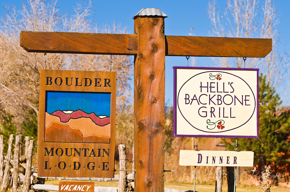 The Boulder Mountain Lodge and Hells Backbone Grill in Boulder, Grand Staircase-Escalante National Monument, Utah