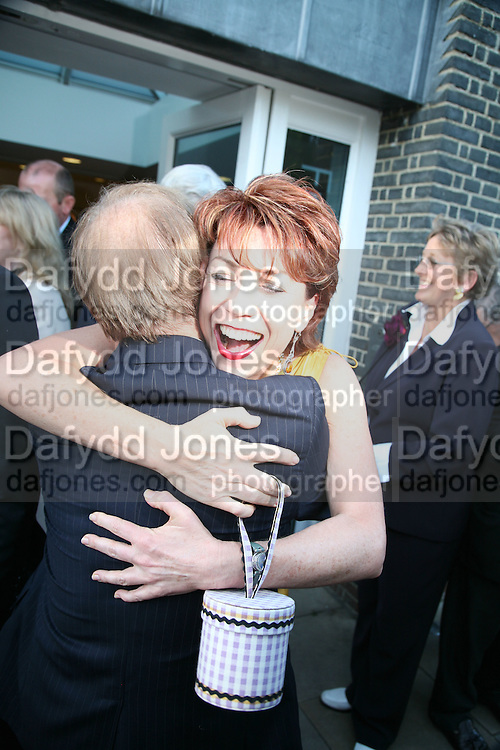 Harry Evans and Kathy Lette, Launch of Tina Brown's book 'The Diana Chronicles' hosted by Reuters. Serpentine Gallery. 18 June 2007.  -DO NOT ARCHIVE-© Copyright Photograph by Dafydd Jones. 248 Clapham Rd. London SW9 0PZ. Tel 0207 820 0771. www.dafjones.com.