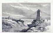 Suspension bridge at the  Niagara Falls.