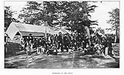The Twenty-First Michigan Infantry from the book ' The Civil war through the camera ' hundreds of vivid photographs actually taken in Civil war times, sixteen reproductions in color of famous war paintings. The new text history by Henry W. Elson. A. complete illustrated history of the Civil war