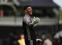 Sheffield Wednesday goalkeeper Keiren Westwood celebrates with fans after the final whistle