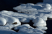 Snow and ice at Inverness Falls<br />Whiteshell Provincial Park<br />Manitoba<br />Canada